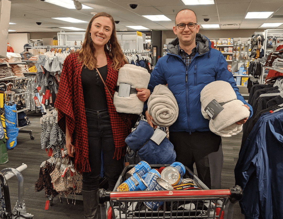 Motili's Maria Agazio and Matthew Sallee Pick Up Some Items for Denver Rescue Mission